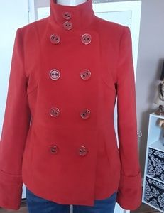 Vibrant  Red coat New,but missing tags.